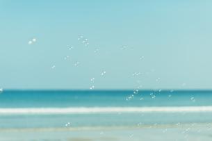 海のシャボン玉の写真素材 [FYI04283559]