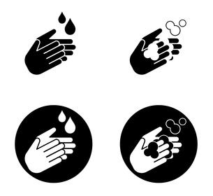 感染予防 手洗いのアイコンのイラスト素材 [FYI04284268]