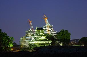 復旧工事中の熊本城の写真素材 [FYI04284491]
