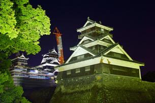 復旧工事中の熊本城の写真素材 [FYI04284492]