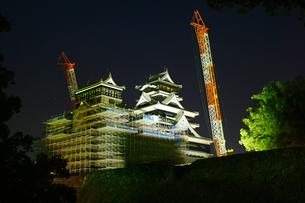 復旧工事中の熊本城の写真素材 [FYI04284493]