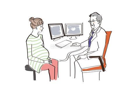 妊婦 検診のイラスト素材 [FYI04285268]