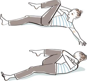 ヨガ ストレッチ 体操のイラスト素材 [FYI04285270]