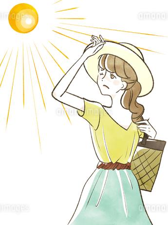 女性-日差し-紫外線のイラスト素材 [FYI04285541]