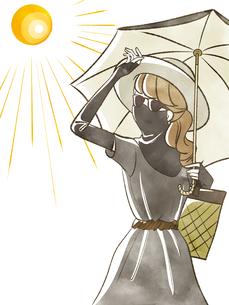 女性-紫外線対策のイラスト素材 [FYI04285551]