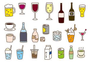 飲み物セットのイラスト素材 [FYI04286261]
