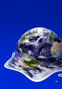 溶ける地球のイラスト素材 [FYI04286533]