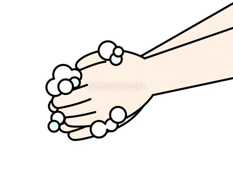 手洗い-石鹸のイラスト素材 [FYI04286654]