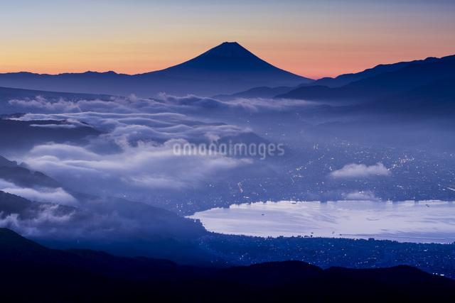 高ボッチ山からの眺め 日本 長野県 岡谷市の写真素材 [FYI04286853]