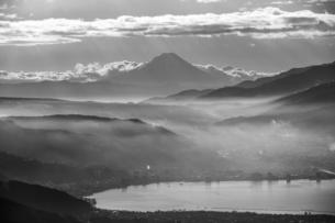 高ボッチ山からの眺め 日本 長野県 岡谷市の写真素材 [FYI04286863]