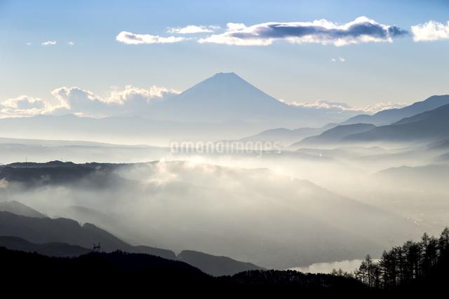 高ボッチ山からの眺め 日本 長野県 岡谷市の写真素材 [FYI04286864]