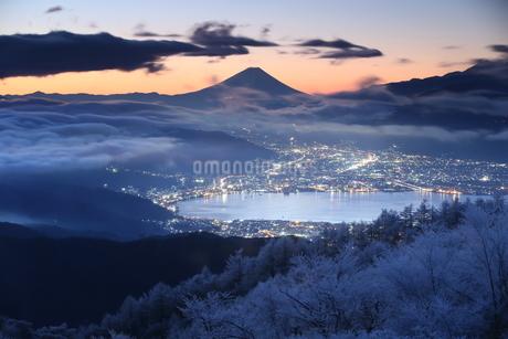 高ボッチ山からの眺め 日本 長野県 岡谷市の写真素材 [FYI04286866]