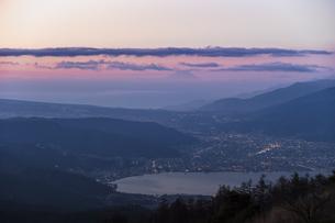 高ボッチ山からの眺め 日本 長野県 岡谷市の写真素材 [FYI04286875]