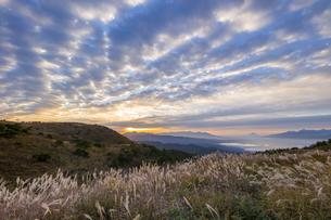 高ボッチ高原からの眺め 日本 長野県 塩尻市の写真素材 [FYI04286886]