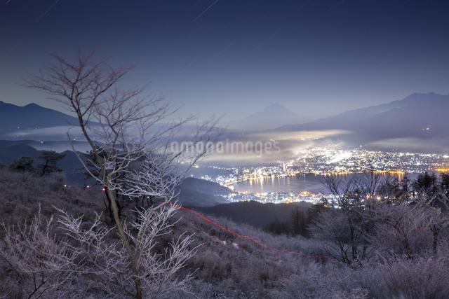 高ボッチ高原からの眺め 日本 長野県 塩尻市の写真素材 [FYI04286894]