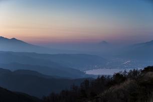 高ボッチ山からの眺め 日本 長野県 岡谷市の写真素材 [FYI04286927]
