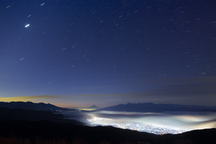 高ボッチ山からの眺め 日本 長野県 岡谷市の写真素材 [FYI04286942]