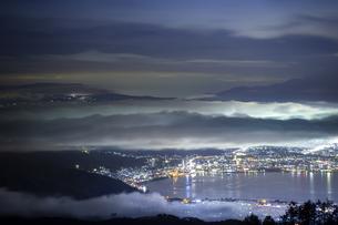 高ボッチ山からの眺め 日本 長野県 岡谷市の写真素材 [FYI04286946]
