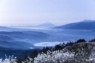 高ボッチ山からの眺め 日本 長野県 岡谷市の写真素材 [FYI04286947]