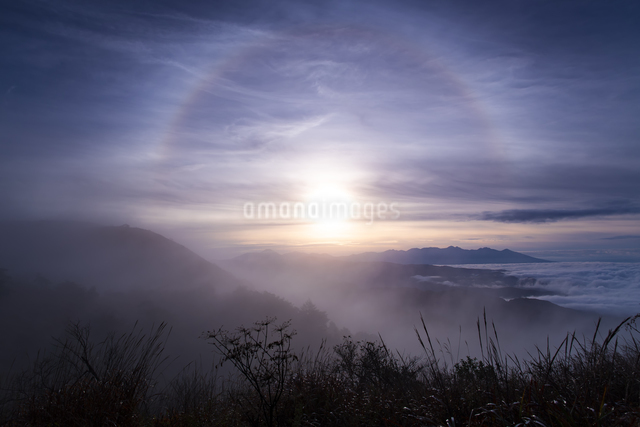 高ボッチ山 日本 長野県 岡谷市の写真素材 [FYI04286948]