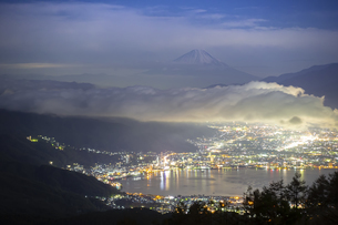 高ボッチ山からの眺め 日本 長野県 岡谷市の写真素材 [FYI04286949]