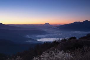 高ボッチ山からの眺め 日本 長野県 岡谷市の写真素材 [FYI04286950]