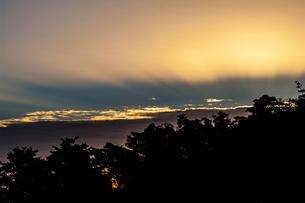 朝焼け フォレストパーク神野山 日本 奈良県 山添村の写真素材 [FYI04287001]