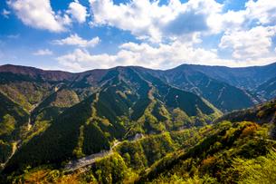 ナメゴ谷 国道309 64カーブポイント 日本 奈良県 上北山村の写真素材 [FYI04287003]
