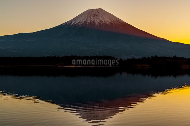 田貫湖と富士山 日本 静岡県 富士宮市の写真素材 [FYI04287019]