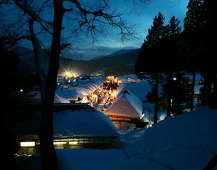 大内宿 雪まつりの写真素材 [FYI04287081]