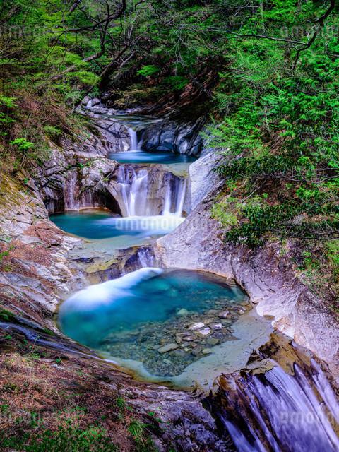 自然 滝 川の写真素材 [FYI04287311]