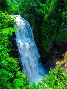三条の滝 日本 福島県 南会津郡の写真素材 [FYI04287317]
