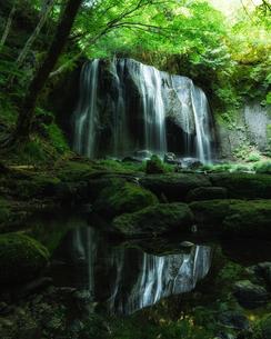 達沢不動滝 日本 福島県 猪苗代町の写真素材 [FYI04287338]