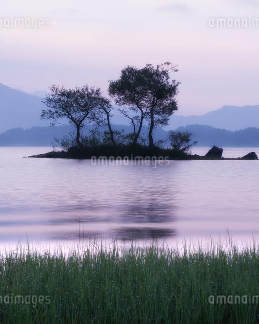 桧原湖 日本 福島県 北塩原村の写真素材 [FYI04287339]