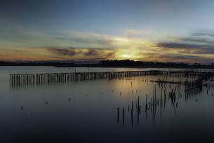 多々良沼の日没の写真素材 [FYI04287398]