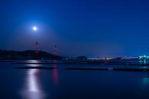夜明け前の広島湾 日本 広島県 安芸郡の写真素材 [FYI04287420]