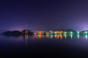 浜田港の夜景 日本 島根県 浜田市の写真素材 [FYI04287427]