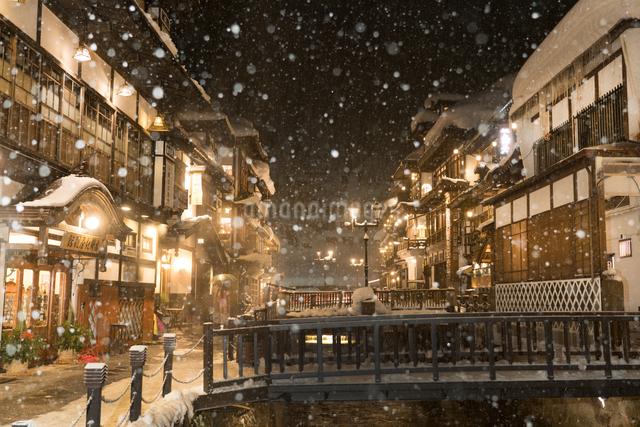 銀山温泉 日本 山形県 尾花沢市の写真素材 [FYI04287484]