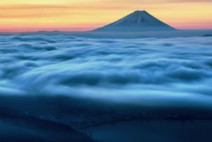 高ボッチ高原からの眺め 日本 長野県 塩尻市の写真素材 [FYI04287504]