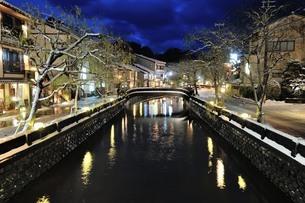 城崎温泉 愛宕橋 日本 兵庫県 豊岡市の写真素材 [FYI04287541]