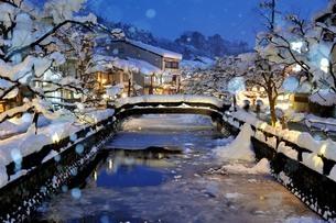 城崎温泉 愛宕橋 日本 兵庫県 豊岡市の写真素材 [FYI04287542]