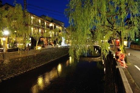 城崎温泉 日本 兵庫県 豊岡市の写真素材 [FYI04287544]