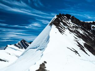 メンヒスヨッホヒュッテ(メンヒ山小屋) スイスの写真素材 [FYI04287752]