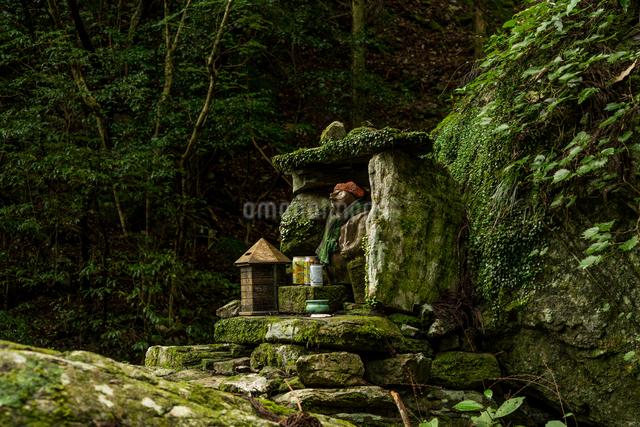 雨乞いの滝 日本 徳島県 神山町の写真素材 [FYI04287785]