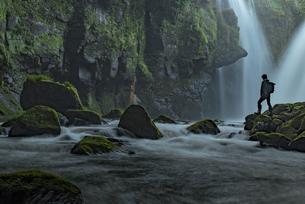 黄牛の滝 日本 大分県 竹田市の写真素材 [FYI04287867]
