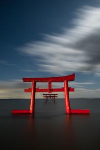 大魚神社 海中鳥居 日本 佐賀県 太良町の写真素材 [FYI04287883]