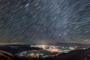 絶景駐車場 日本 熊本県 阿蘇市の写真素材 [FYI04287890]