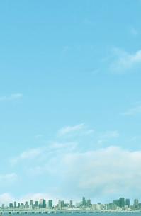大阪の超高層ビル群と青空の写真素材 [FYI04287908]