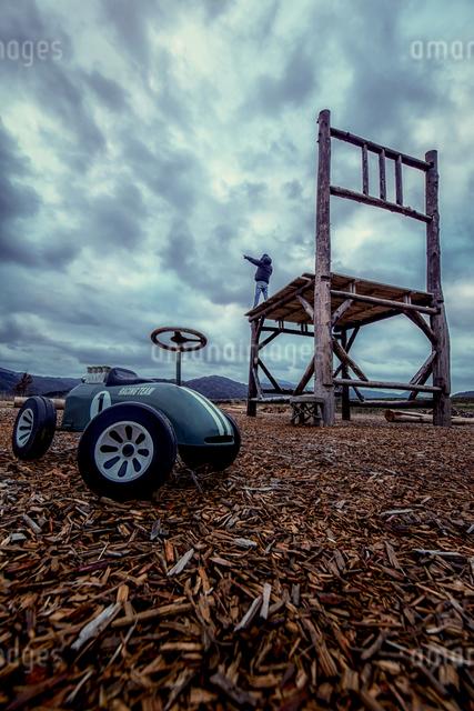 椅子のオブジェ 日本 福岡県 豊前市の写真素材 [FYI04287927]