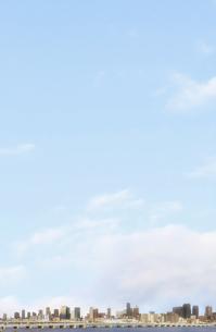 大阪の超高層ビル群と青空の写真素材 [FYI04287929]